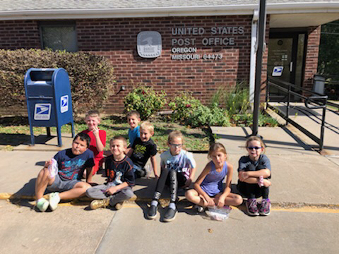 Mrs. Nester's class after mailing their letters.