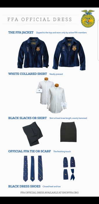 Components of the FFA Official Dress