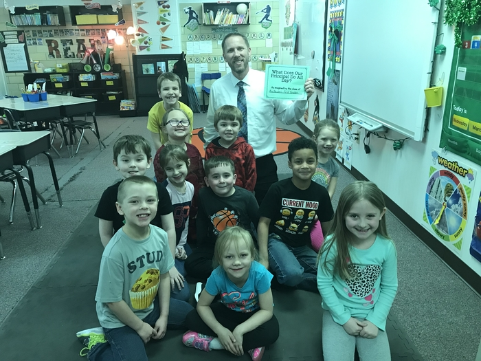 Mrs. Nester's class with Mr. Quinlin