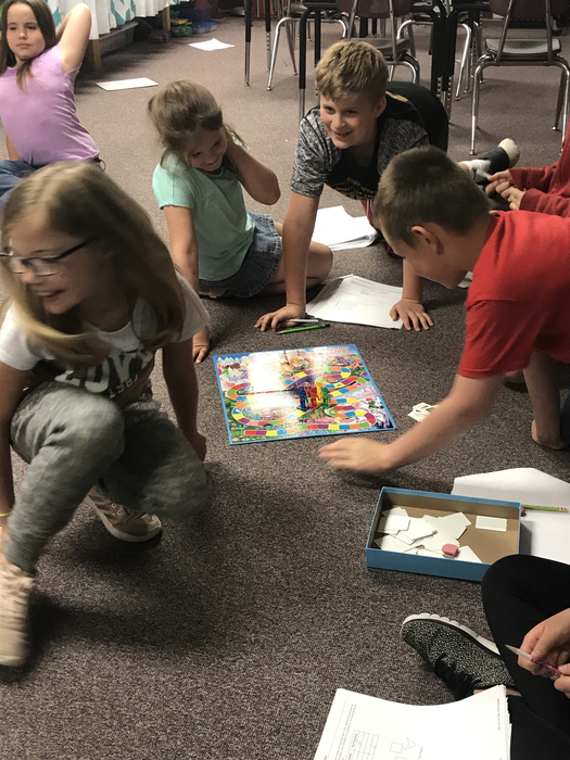 Mrs. Anderson's class added some fun to preparing for the MAP test with some Candy Land!