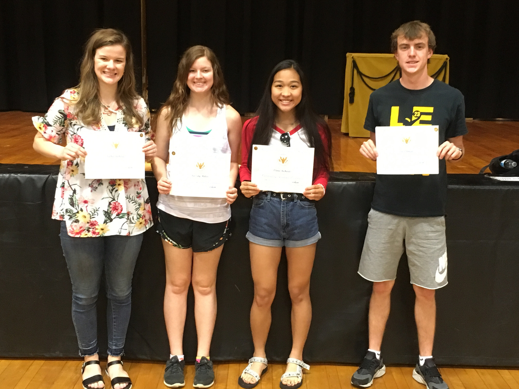 Congratulations to Sophia Richards, Kassidy Miller, Olivia Richards and Eric Ottman on receiving the Presidential Academic Excellence Award.