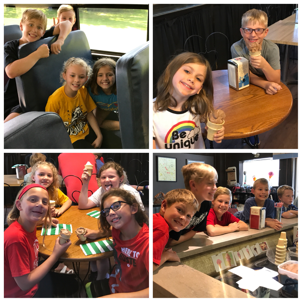 Third grade enjoyed going to the Forest City Drug Store Museum today! We learned about the Loess Bluffs and enjoyed some ice cream!