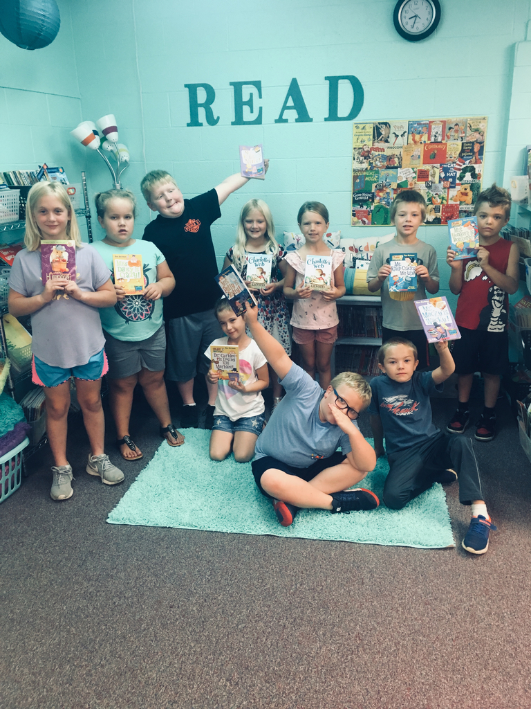 "Ms. Showalter's friends donated a Scholastic book for every student each month of the school year. To quote one of them, ""I love it and am willing to donate to the love of reading!"""