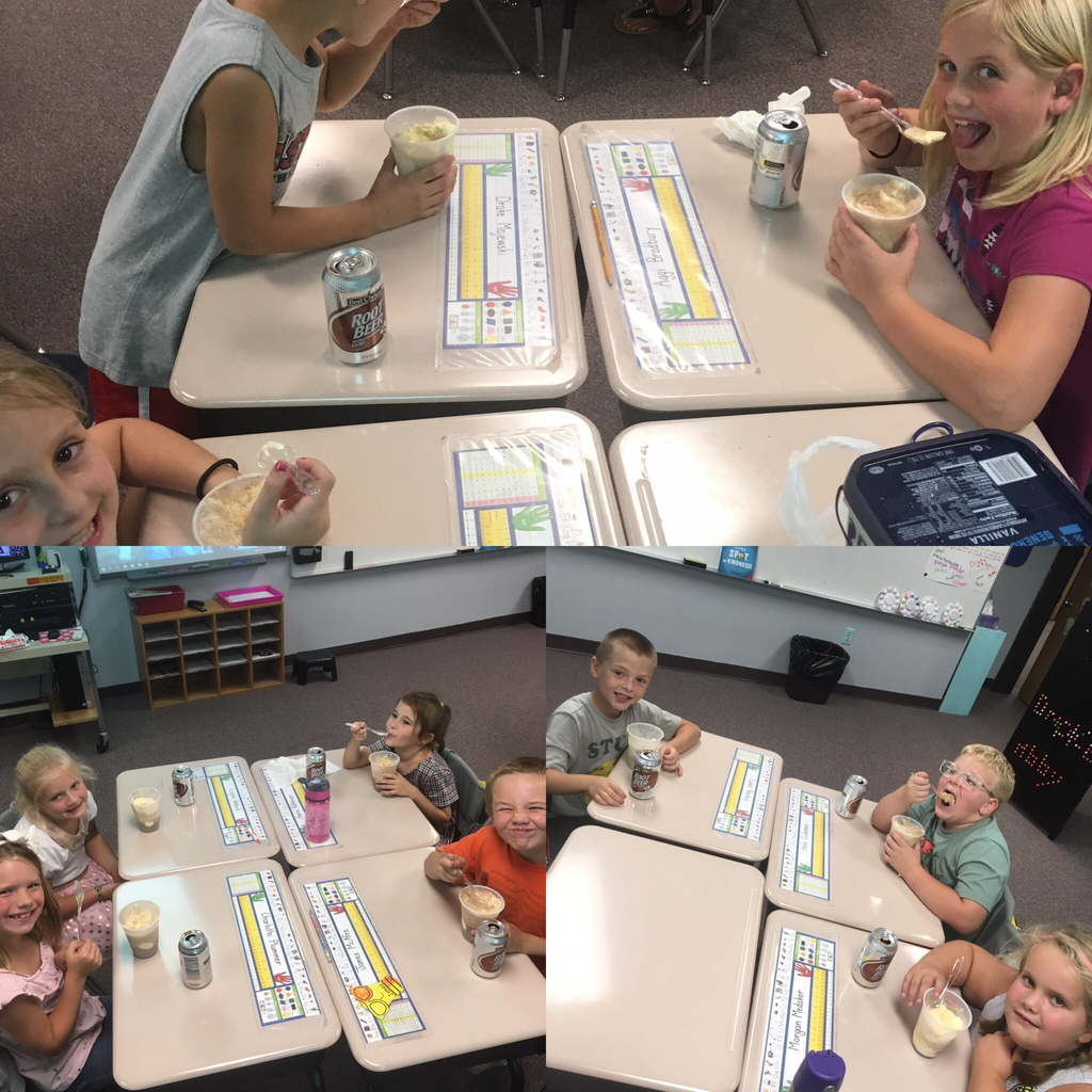 Ms. Showalter's class enjoys Solids, Liquids and Gases in the form of Root Beer Floats