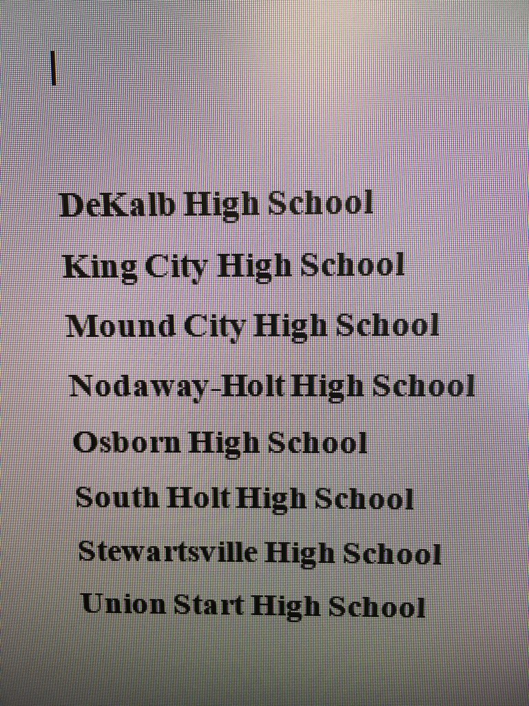 South Holt District Basketball assingments for this year.