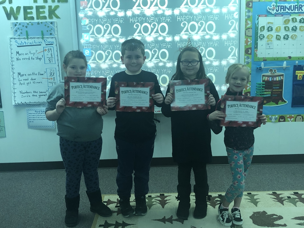Perfect attendance awards!