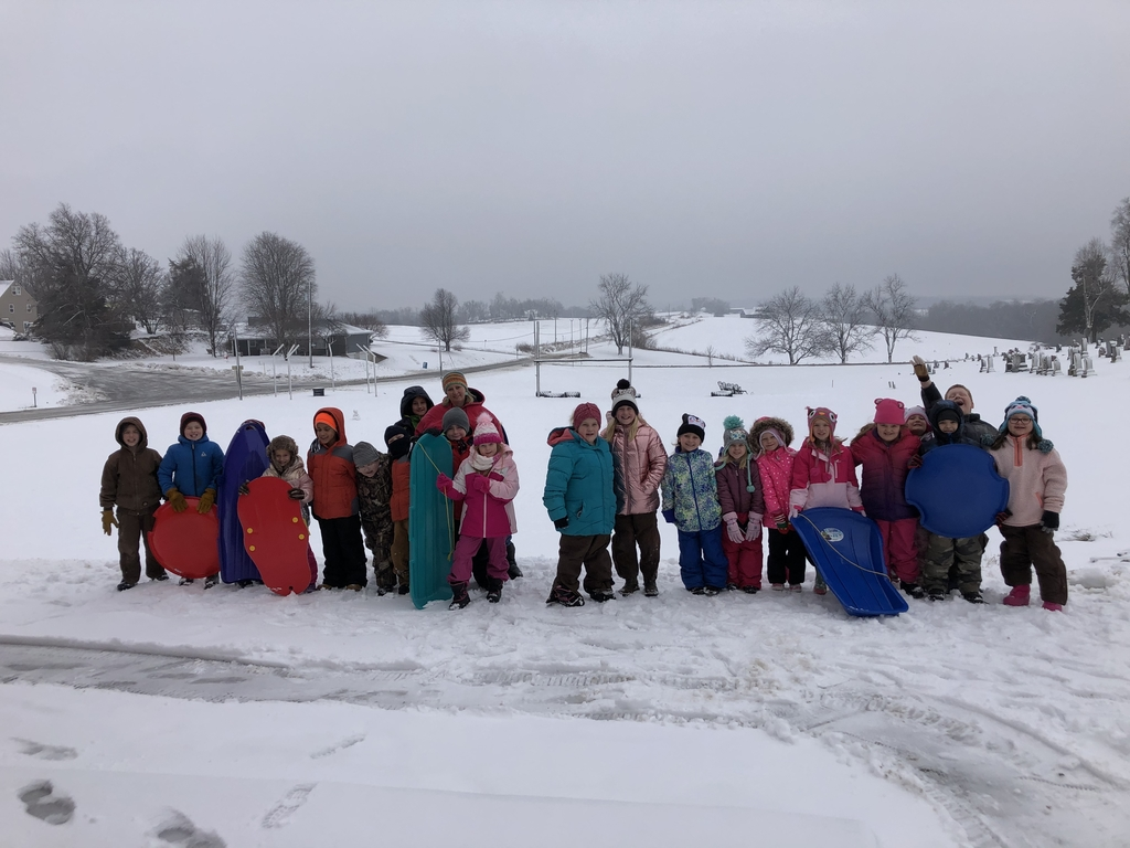 It's snow-much fun to be a second grader at south holt!