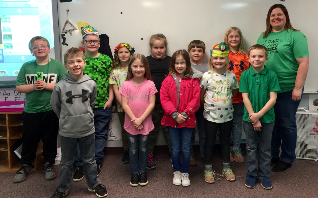 Happy St. Patrick's Day from your BRIGHT 2nd Graders.