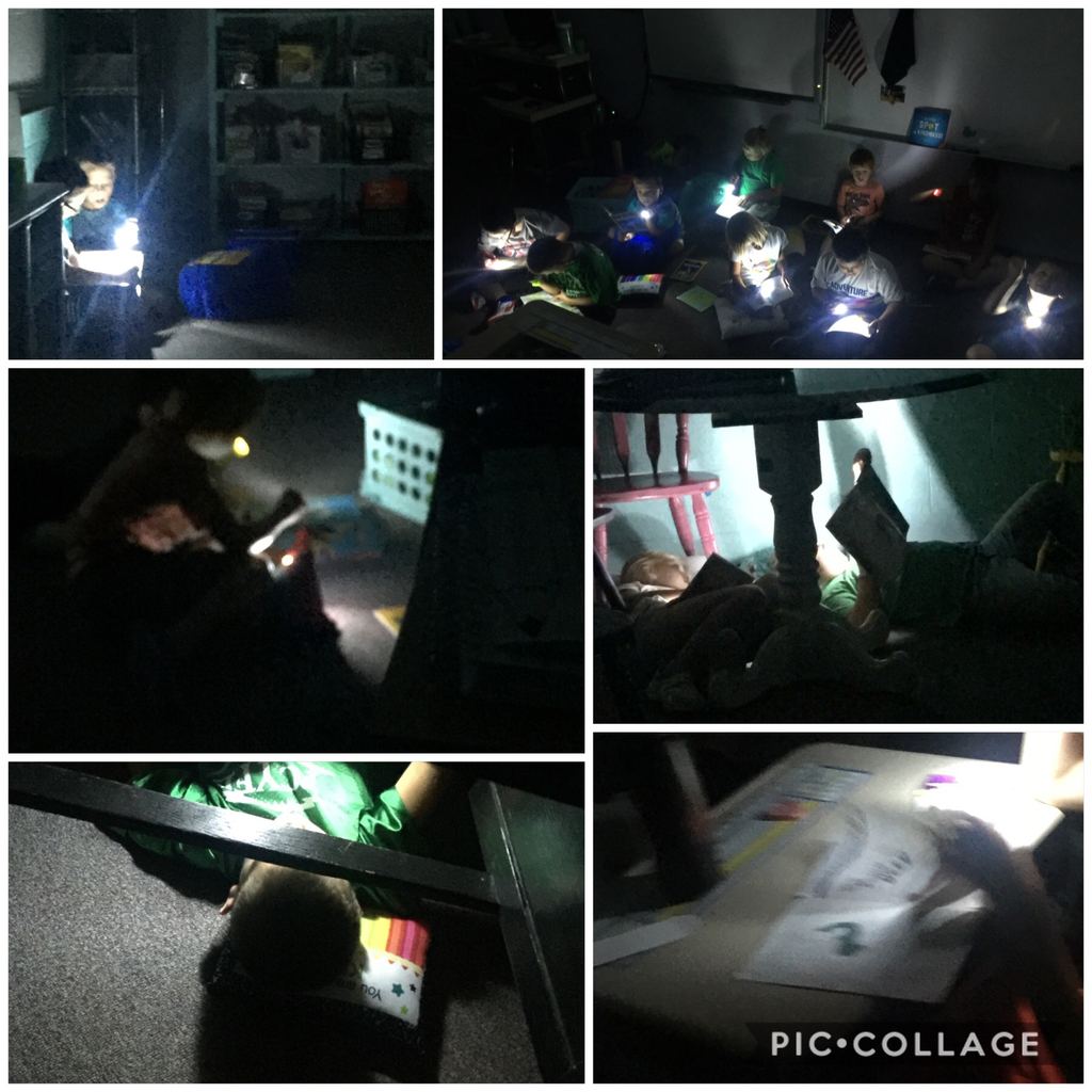 Flashlight Friday in Ms. Showalter's class.